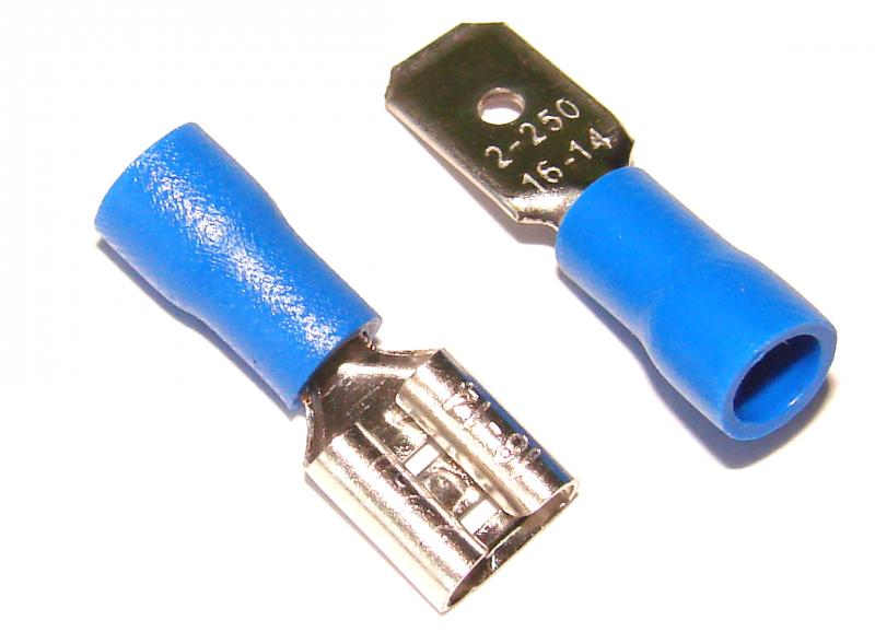Клеммники FDFD2-250 синие  2 шт. ( штекер + гнездо )