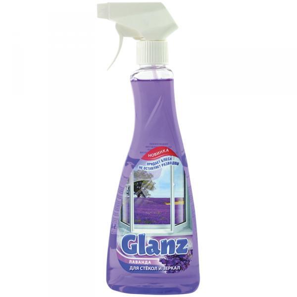 "Средство для мытья стекол и зеркал Glanz ""Лаванда"", 500мл, с курком"