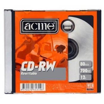 CD-RW 700 Мб 4-12х Acme перезаписываемый в слиме