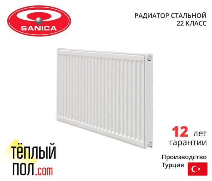 Радиатор стальной, марки SANICA 500*2600 (произведен в: Турция, 22 кл, высота 500мм)