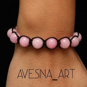 Фото Изделия из натуральных камней Браслет из розового кварца