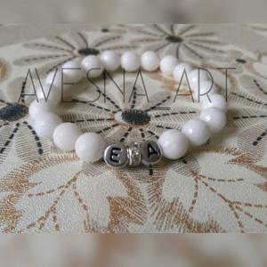 Фото Изделия из натуральных камней Браслет из агата белого