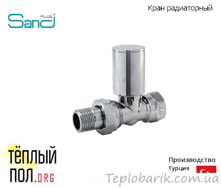 Фото Радиаторы отопления, Комплектующие для подключения радиаторов, Краны радиаторные Кран радиаторный прямой хромированный, резьба: 3/4, ТМ