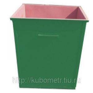 Фото  Мусорные контейнеры металлические 0,75м3