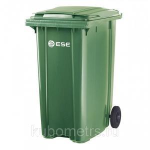 Фото  Пластиковые уличные контейнеры для мусора 120л