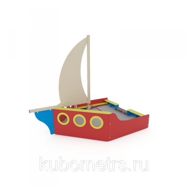 """Песочница для детского сада """"Яхта"""""""