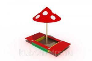 Фото  Песочница с крышкой и грибком