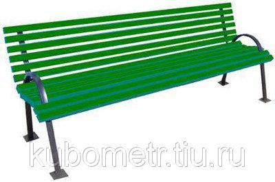 Скамейка парковая 2м со спинкой и подлокотниками