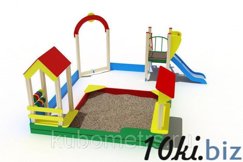 Песочный дворик с горкой и счетами купить в Саранске - Игровые площадки, горки, карусели и песочницы с ценами и фото