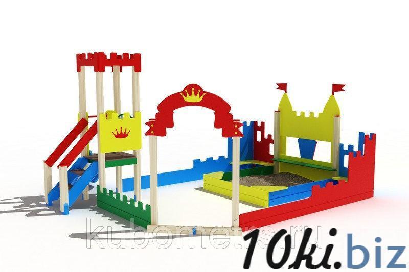 """Песочный дворик """"Королевство"""" с горкой, скамейками купить в Саранске - Игровые площадки, горки, карусели и песочницы с ценами и фото"""
