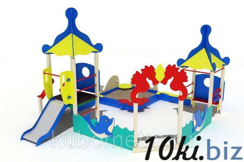 """Игровой комплекс """"Морской"""" с горкой, песочницей, счетами купить в Саранске - Игровые площадки, горки, карусели и песочницы с ценами и фото"""