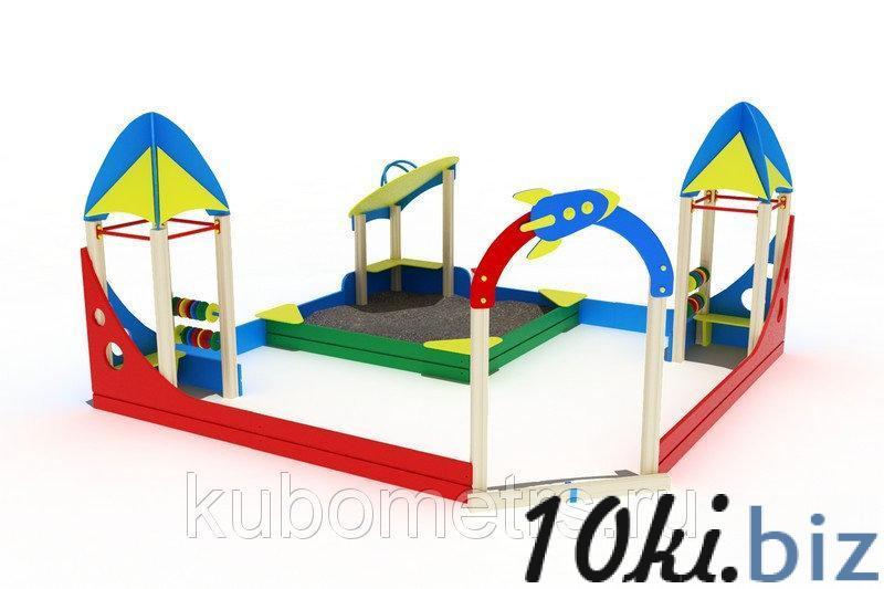 """Песочный дворик """"Космопорт"""" со скамейками, счетами купить в Саранске - Игровые площадки, горки, карусели и песочницы с ценами и фото"""