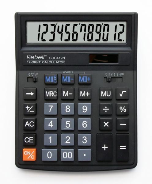 Калькулятор настольный 12р.-16р. серии 412+/554+/664+ Rebell, Германия (ЦЕНЫ см. подробнее)