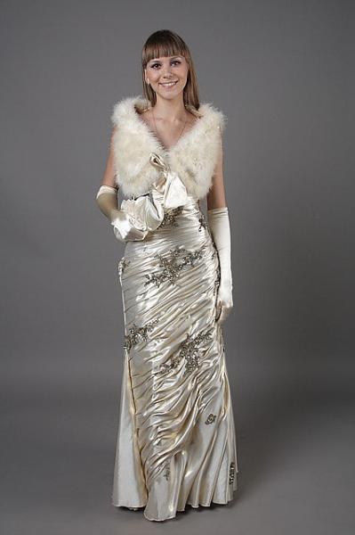 Длинное платье годе (русалка) на корсете