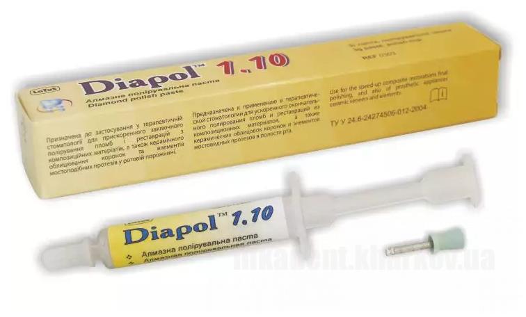 Фото Для зуботехнических лабораторий, МАТЕРИАЛЫ, Полировочные материалы и пасты Diapol Diamond polish paste 1,10 (Diapol-1.10)