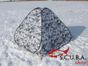 Фото Товары для рыбалки, Палатки для рыбалки Палатка автомат 2*2м белый КМФ