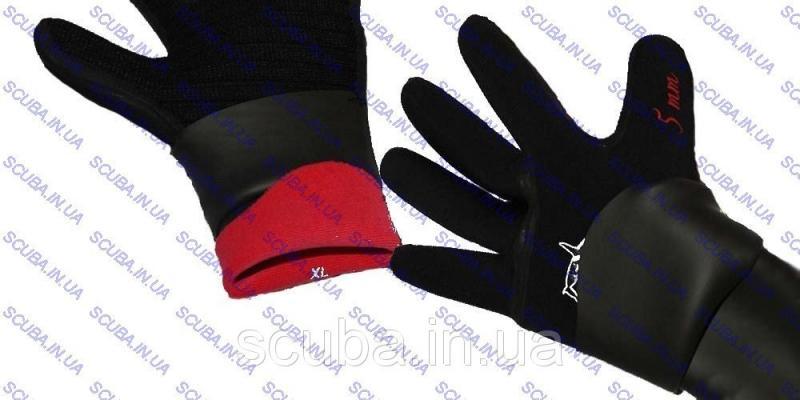 """Перчатки для подводной охоты пятипалые с двойной обтюрацией BS Diver """"SUPER DRY"""" 5 мм"""