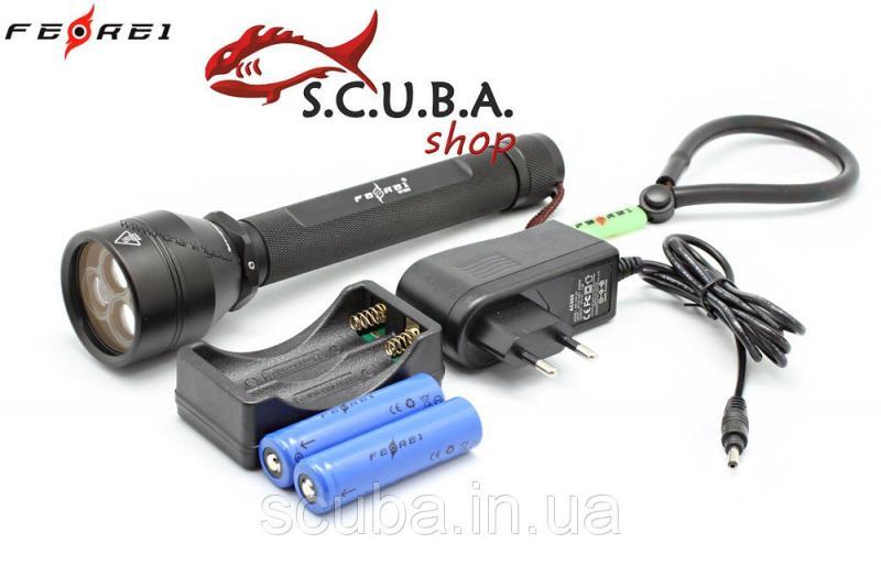 Подводный фонарь Ferei W156 (красный свет + белый свет)