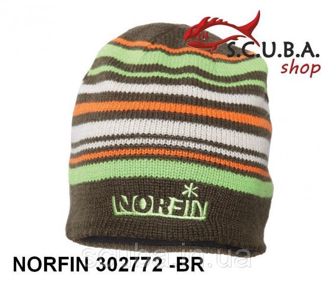 Шапка полушерстяная, с флисовой подкладкой NORFIN Frost (ар. 302772-DG)