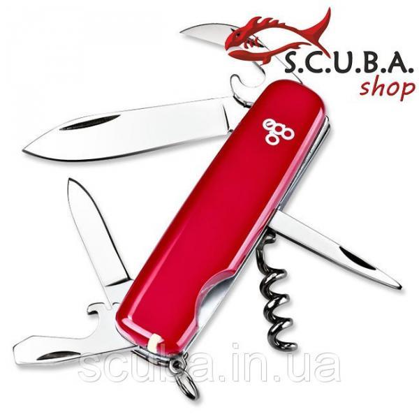 Нож складной многофункциональный Ego A 01.8 красный