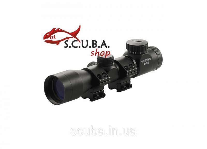 Прицел оптический TASCO Пр-4x32-E-T для использования на огнестрельном охотничьем и пневматическом оружии