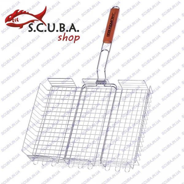 Решетка для гриля и барбекю с высокими бортами Кемпинг BQ-61