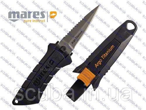 Нож для подводной охоты и дайвинга MARES ARGO TITANIUM