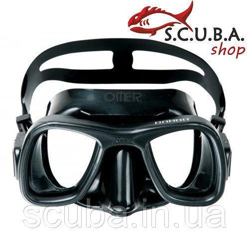 Маска для подводной охоты OMER Bandit чёрный силикон