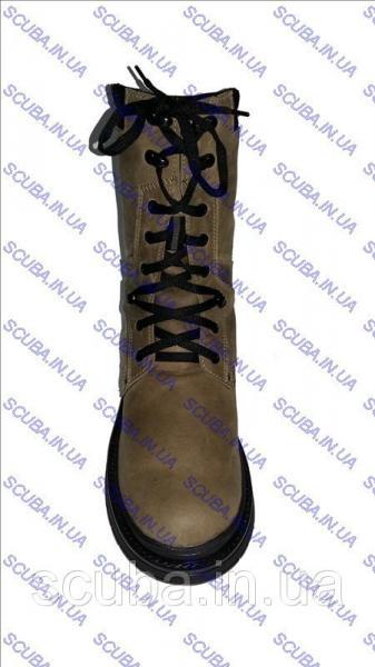 """Зимние мужские ботинки на натуральном меху """"ALASKA"""" (нубук), бежевые"""