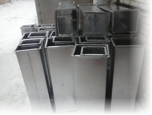 Воздуховоды прямоугольные из оцинкованной стали