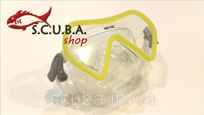 Маска для подводной охоты Seac Sub ZENITH (желтая)