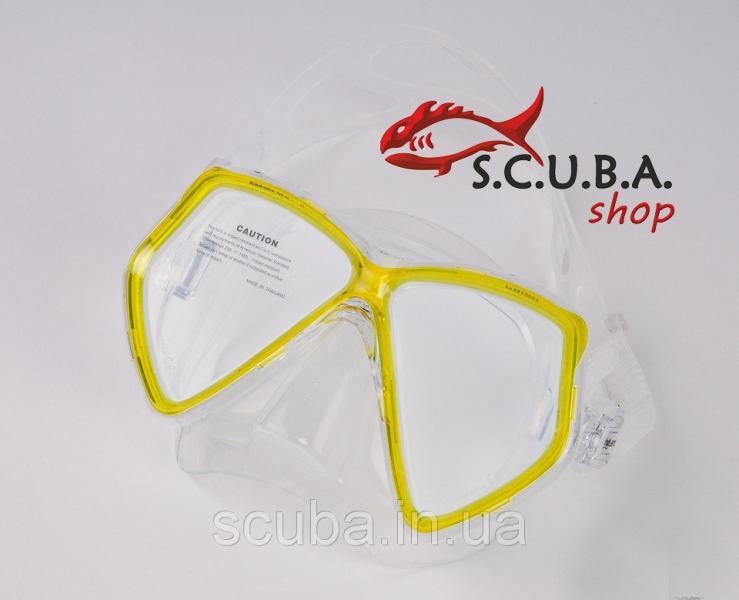 Маска Mares GHIBLI YL желтая для дайвинга и подводного плавания (411317/YL)