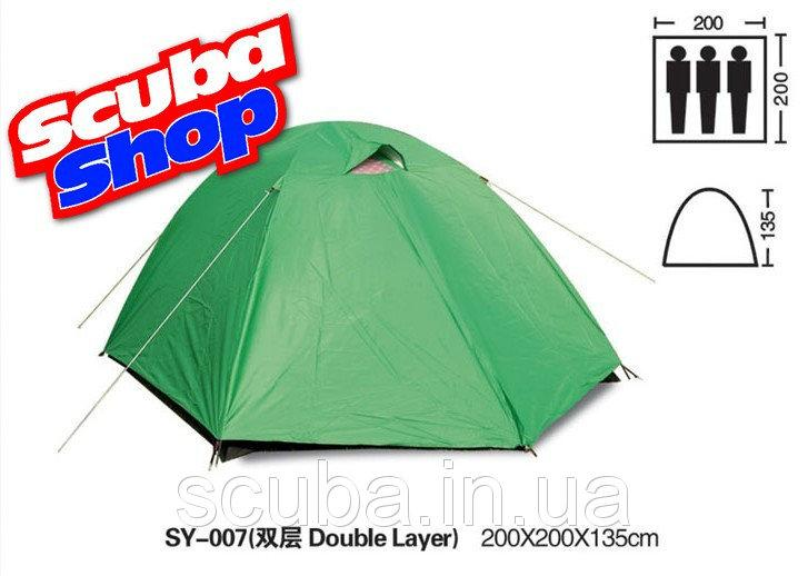 Палатка универсальная 3-х местная с тентом SY-007