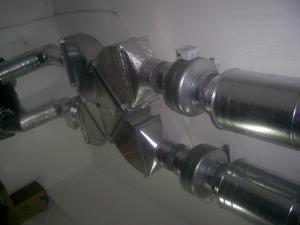 Фото Монтаж вентиляции Приток и вытяжка с рекуперацией тепла в системе вентиляции
