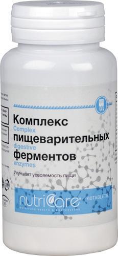 Комплекс пищеварительных ферментов, таблетки , 60 шт.