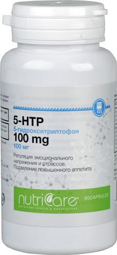 5-Гидрокситриптофан, 100 мг, 60 капсул.