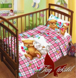 Фото ДЕТСКОЕ ПОСТЕЛЬНОЕ, Постельное детское в кроватку Детский комплект ТМ