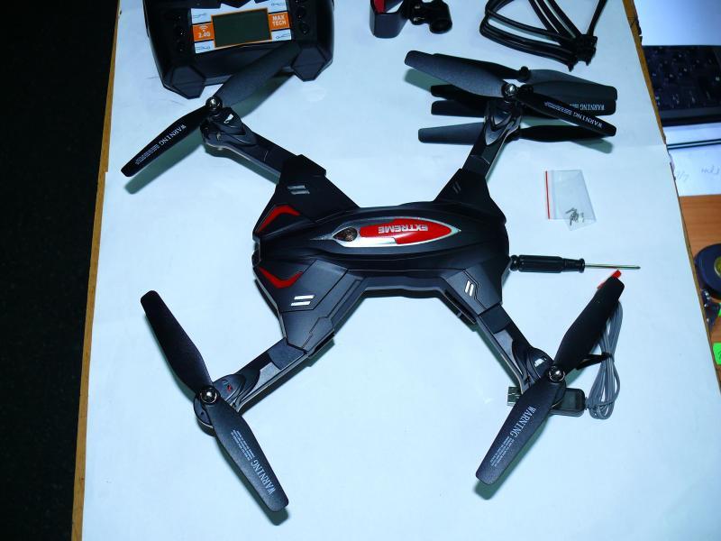 Квадрокоптер трансформер TK-110 с подсветкой, 45х45 см. WiFi видеокамера.