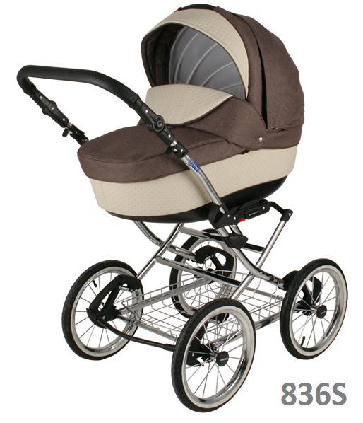 Классическая коляска (2в1) BEBE-MOBILE SANTANA ЭКО-КОЖА 50% (2в1)