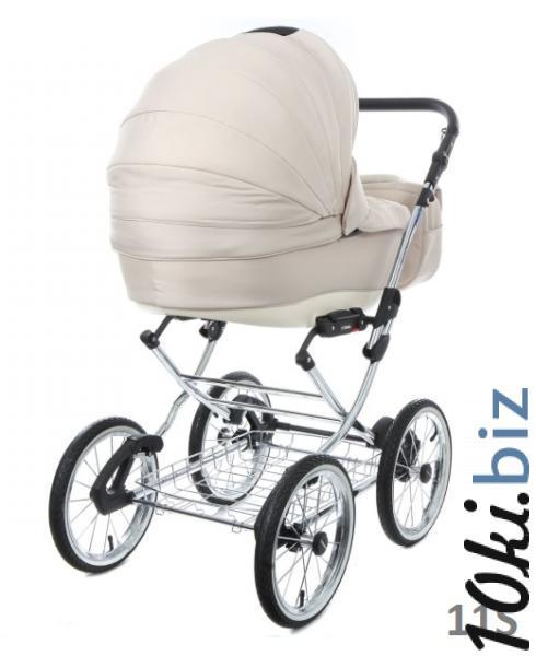 Классическая коляска (3в1) BEBE-MOBILE SANTANA ЭКО-КОЖА 100% (3в1) Коляски-люльки, коляски-трансформеры в России