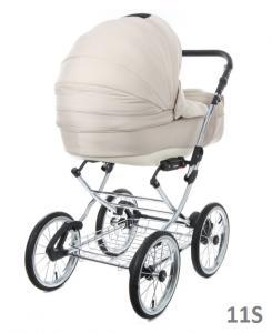 Фото Коляски, Классические коляски 3 в 1 Классическая коляска (3в1) BEBE-MOBILE SANTANA ЭКО-КОЖА 100% (3в1)