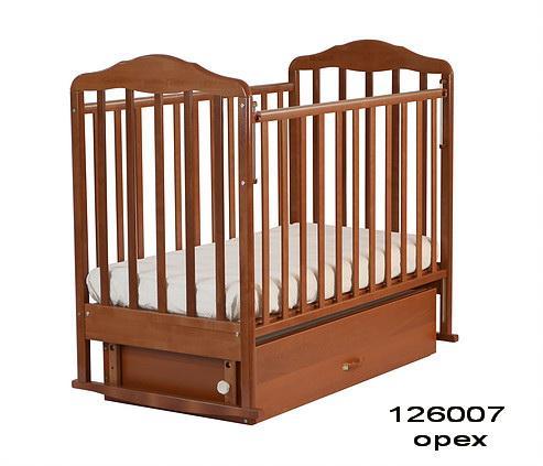 Кроватка-маятник СКВ Березка 12600 с ящиком (цвет в ассортименте)