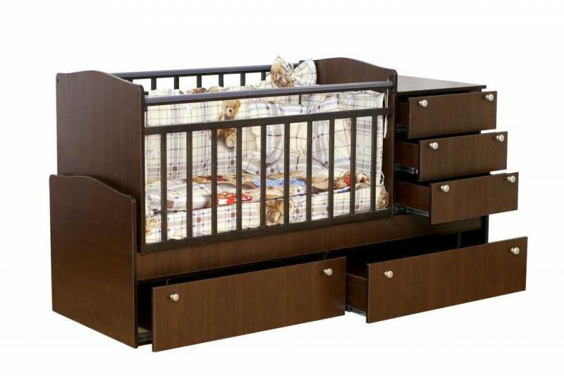 Кроватка-трансформер Укачай-ка Венге
