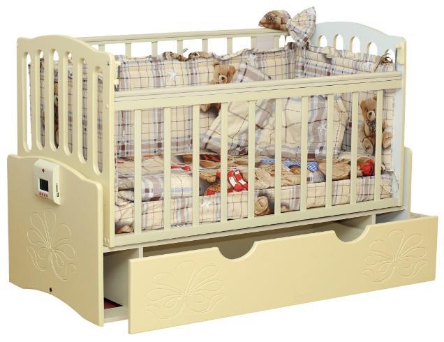 Автоматическая кроватка с механизмом укачивания и MP3-плеером Укачай-ка Ваниль