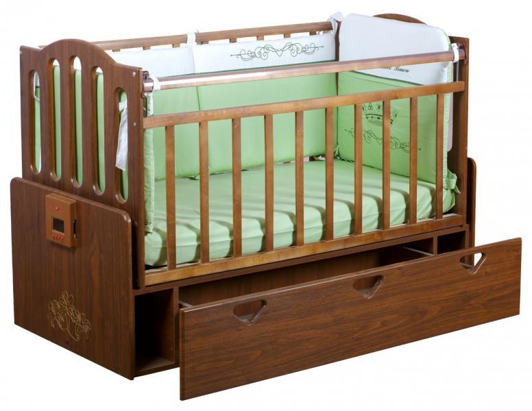 Автоматическая кроватка с механизмом укачивания и MP3-плеером Укачай-ка Орех