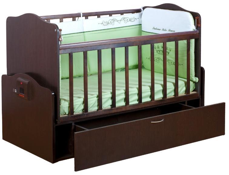 Автоматическая кроватка с механизмом укачивания и MP3-плеером Укачай-ка Венге