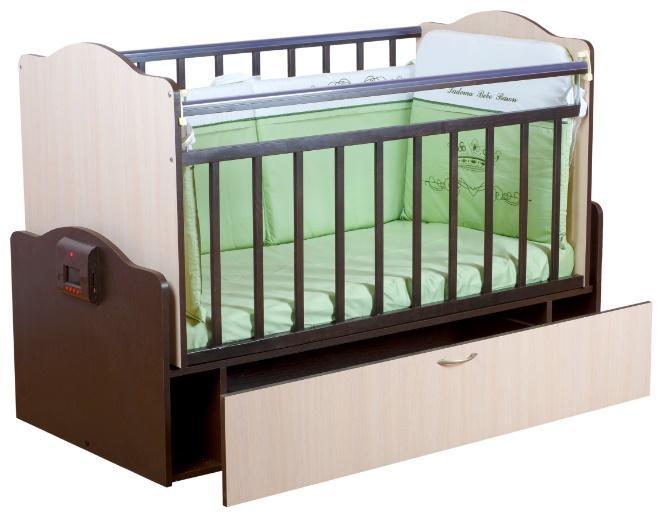 Автоматическая кроватка с механизмом укачивания и MP3-плеером Укачай-ка Комби