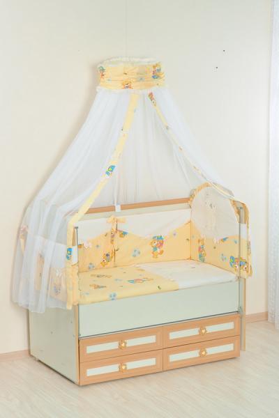 Комплект в кроватку (7 предметов) №25.4 бежевый