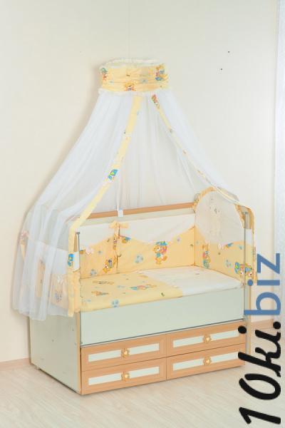 Комплект в кроватку (7 предметов) №25.4 бежевый Детское постельное белье в России