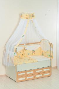 Фото Постельное белье Комплект в кроватку (7 предметов) №25.4 бежевый